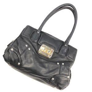 B Makowsky | Genuine Leather Black Shoulder Bag